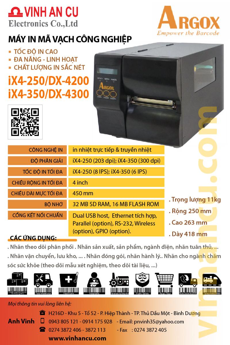 máy Argox IX4 350 300 DPI