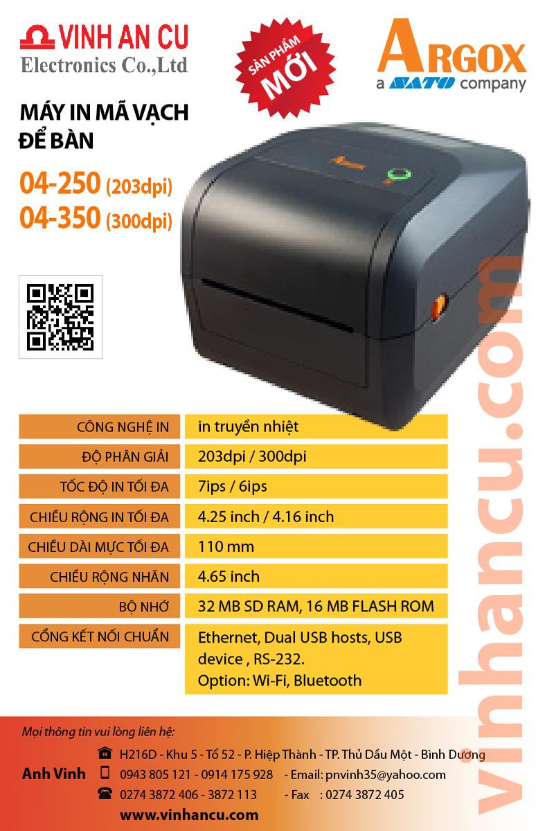 Argox O4 250 203 DPI ( tốc độ 7 inches) Máy ARGOX